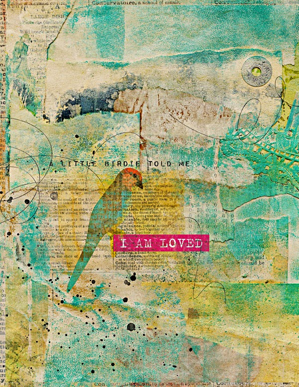 Heather Greenwood   Mixed Media Art Journal Template   Captivated Visions   I AM LOVED
