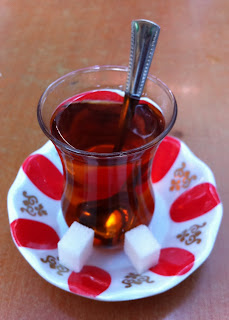 The sweet Apple Tea after each meal in Turkey.