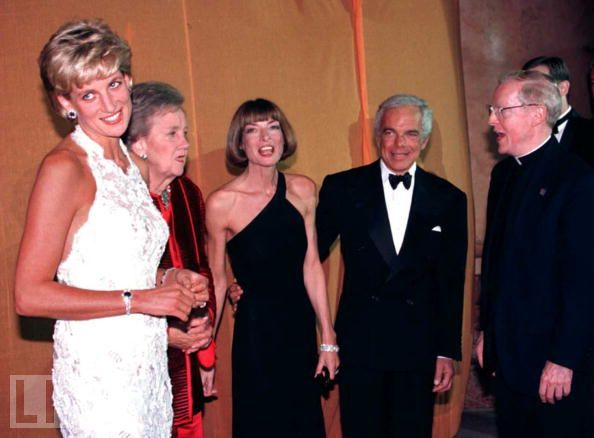 Princess Diana at a reception in Washington DC 1996 wearing the Saudi