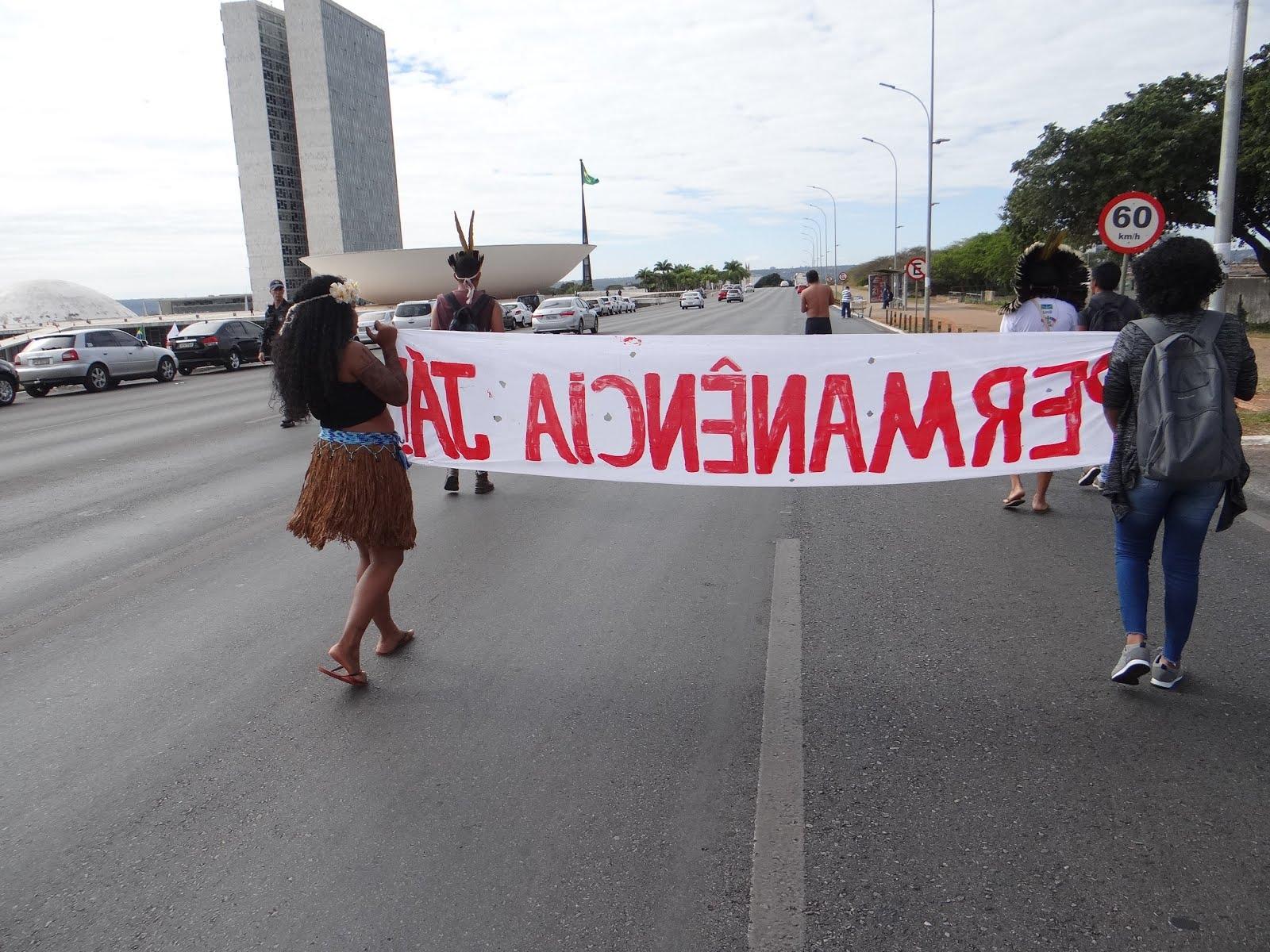 Mob Estudantes Indigenas e Quilombolas