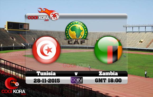 مشاهدة مباراة تونس وزامبيا اليوم 28/11/2015 علي بي أن سبورت HD10