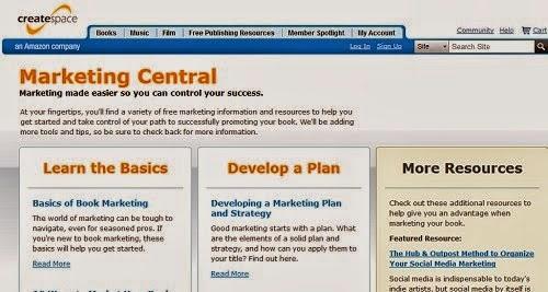 Createspace Marketing Central good advice