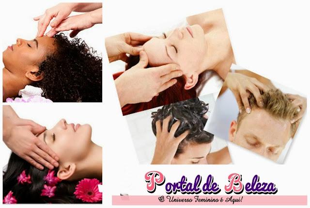 massagem no couro cabeludo