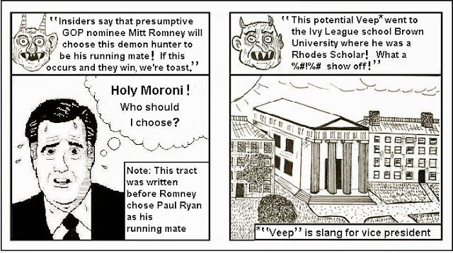 chick tract satire pastiche