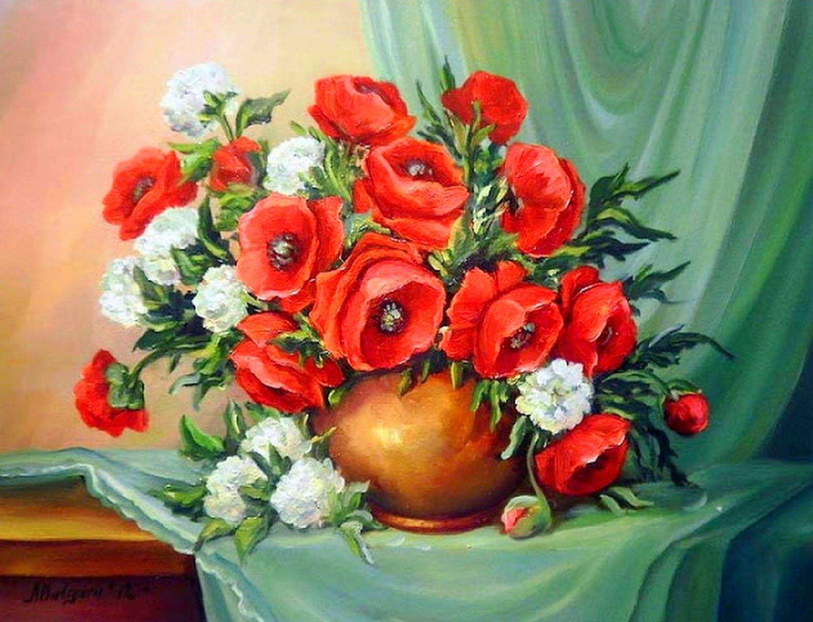 bodegon-de-flores-rojas-pintadas-al-oleo