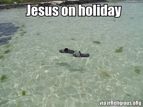 Funny Jesus On Holiday Caption Picture