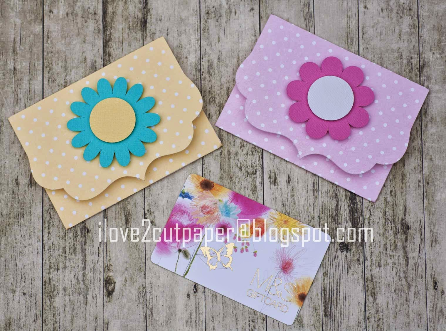Gift card holders using Pazzles Inspiration cutting machine