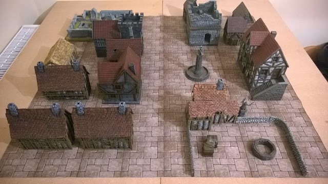 medieval fantasy town wargames scenery board