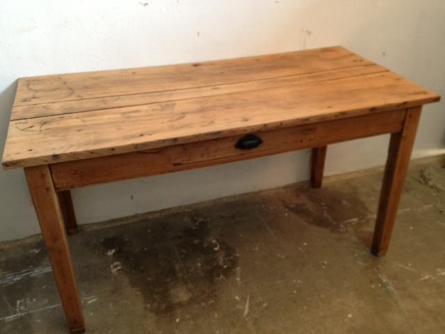 El taller de chlo mesa decapada - Mesas de comedor antiguas ...