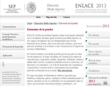 2013, resultados enlace eduación media superior 2013, resultado