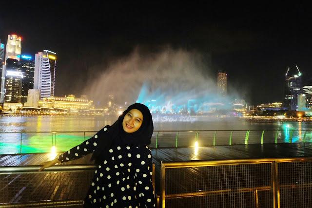 marina bay sand malam hari