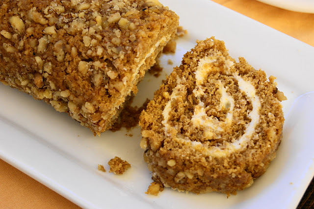 ... is My Playground: Classic Pumpkin Cake Roll with Cream Cheese Filling