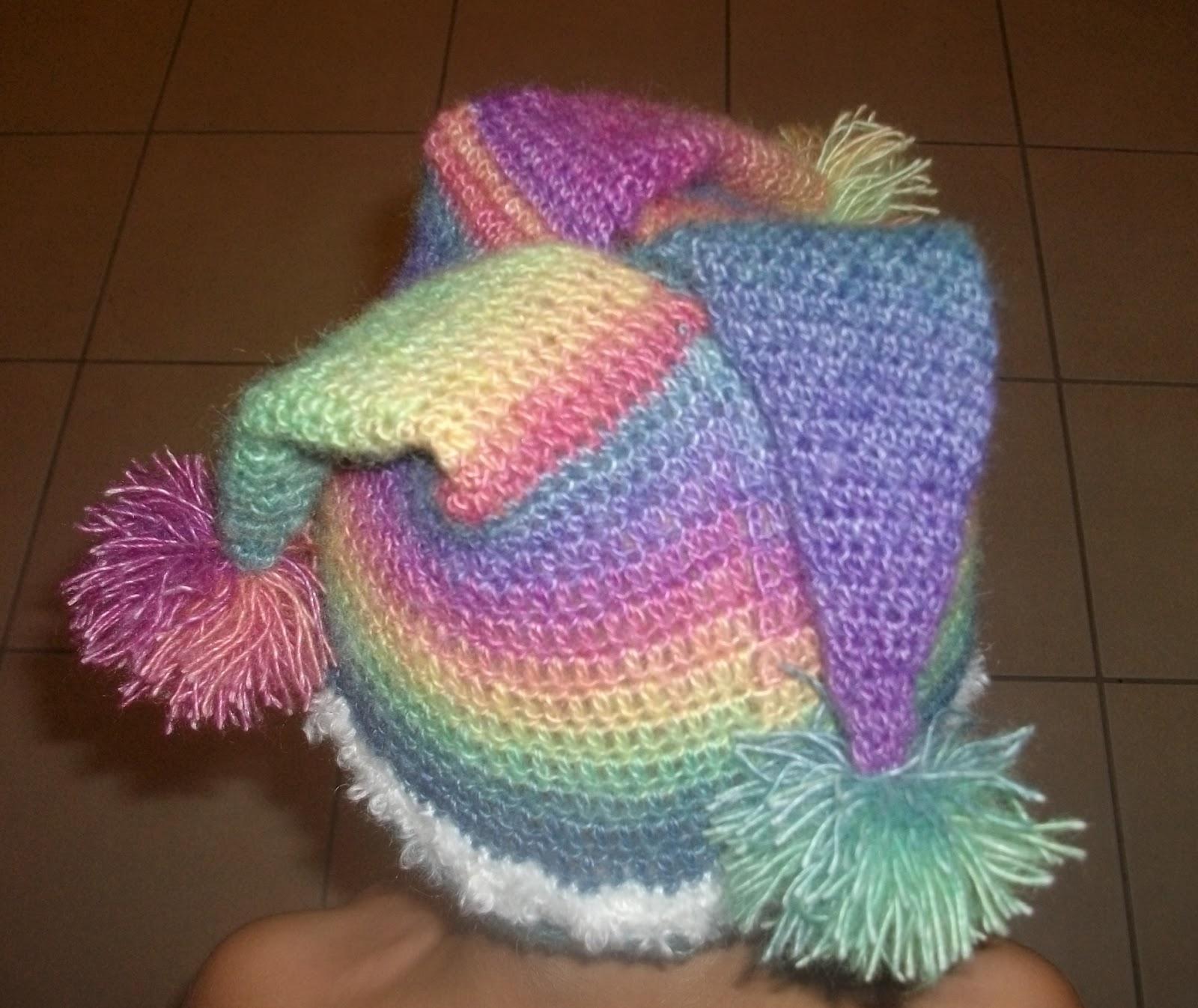 Free Crochet Joker Hat Pattern : the crochet case: Court Jester Beanie
