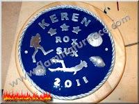 sand casting diver aluminum plaque
