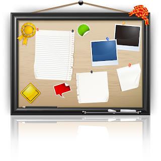 メッセージ ボード Message board vector イラスト素材