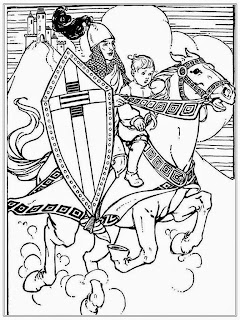 Kids And Warrior Free Adult Coloring Page