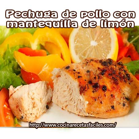 Recetas  de pollo, recetas fáciles, mantequilla, limón