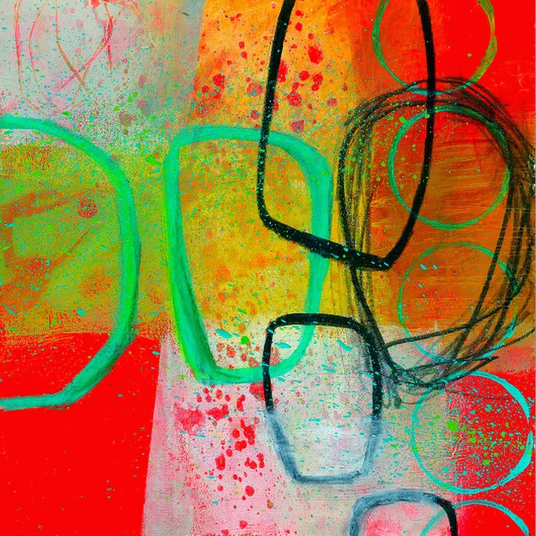 Pintura moderna y fotograf a art stica cuadro abstracto for Imagenes de cuadros abstractos faciles