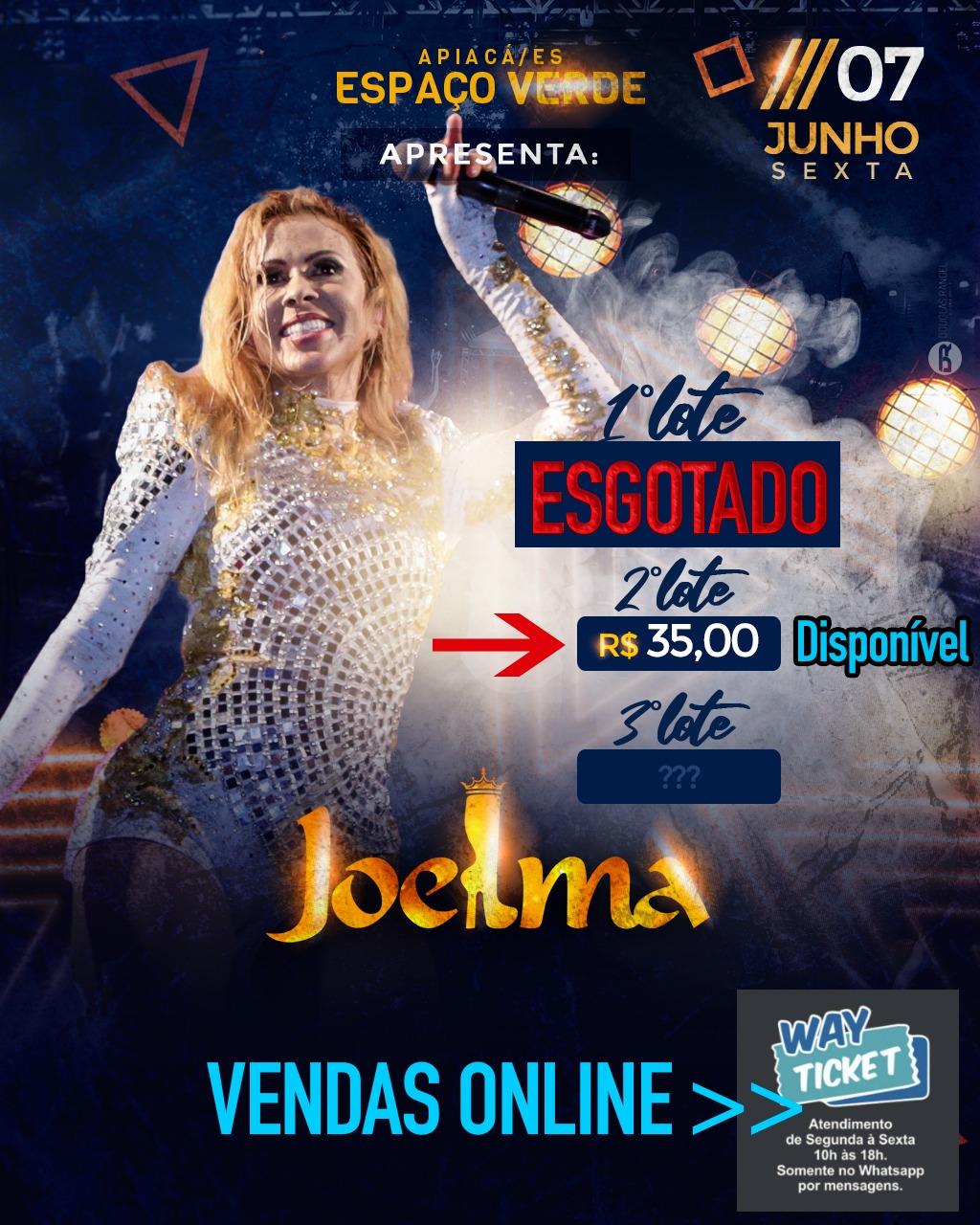 DIA 7 DE JUNHO TEM SHOW DA CANTORA JOELMA NO ESPAÇO VERDE EM IÚRU, DISTRITO DE APIACÁ-ES