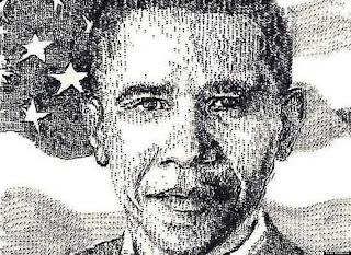 Lukisan Obama dari Mesin Ketik
