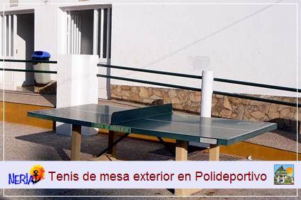 La reserva para el tenis de mesa se puede hacer en el mismo día en la instalación, previo pago de los precios públicos establecidos