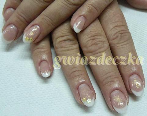paznokcie ślubne migdałki