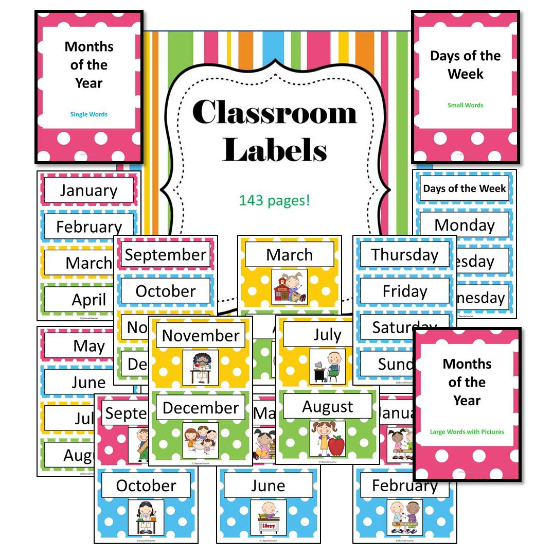 Bayside math teacher huge classroom labels pack 20 off for Room labels