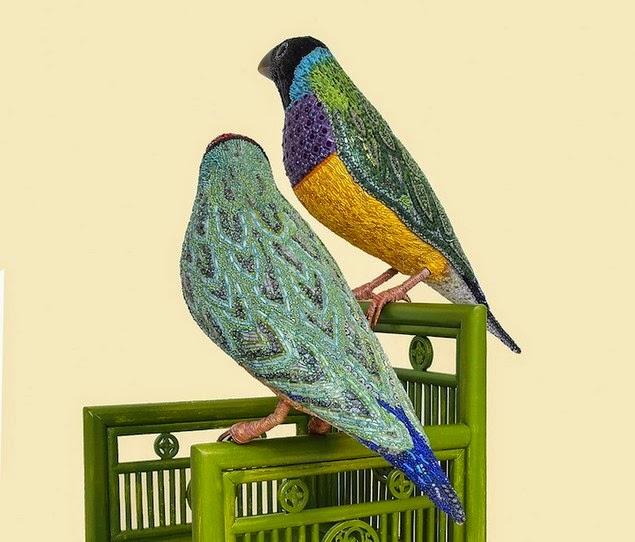 mosaic bird sculptures dusciana bravura-8