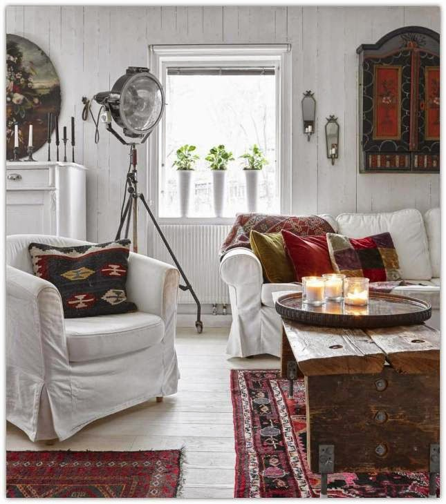 bohemian style country house in sweden - Country House Style