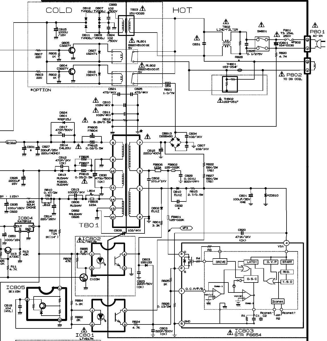 lg rp21fd10 - schematic diagram - used ics