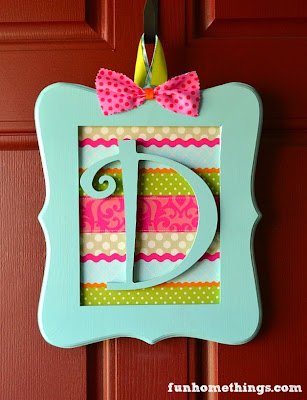 fun spring picture monogram wooden wreath