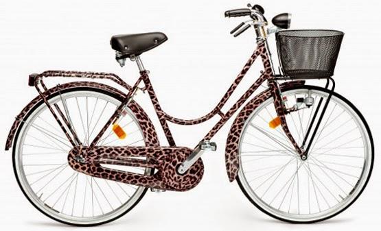 bicicleta de luxo com estampa leopardo cesta Dolce & Gabbana