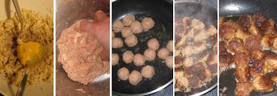 Köttbullar-Zubereitung