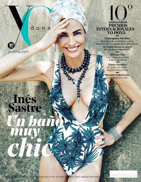 Actress, Model @ Ines Sastre for Yo Dona Spain June 2015