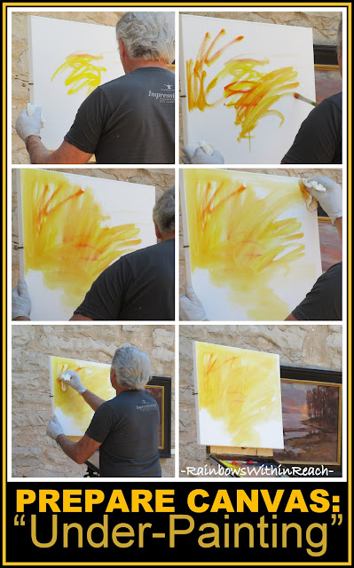 photo of: Master Class on Oil Painting: Preparing Canvas with under painting