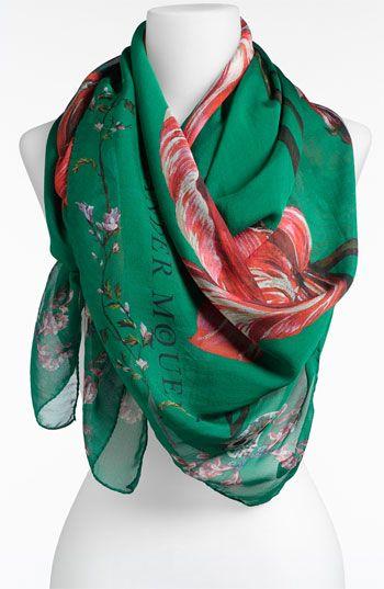 filmy silk-chiffon scarf