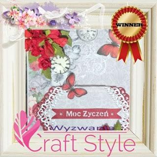 Wygrałam wyzwanie 22 Z motylem w Craft Style
