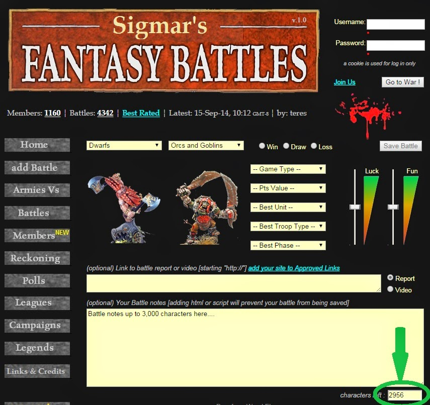 WFBattles add battle tracker