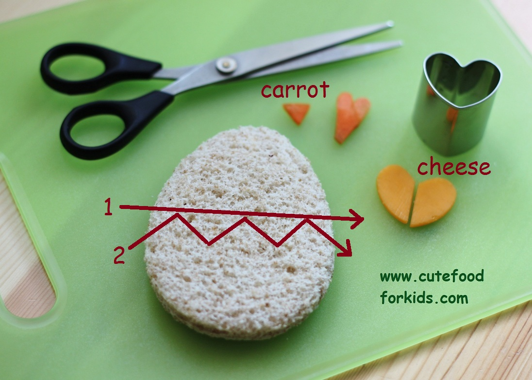 how to cut sandwiches neatly