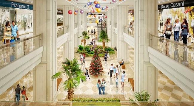 Khu phố mua sắm, shopping khu trung tâm thương mại Vincom Mega Mall
