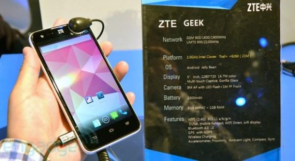 "ZTE announces the smartphone ""Geek"""