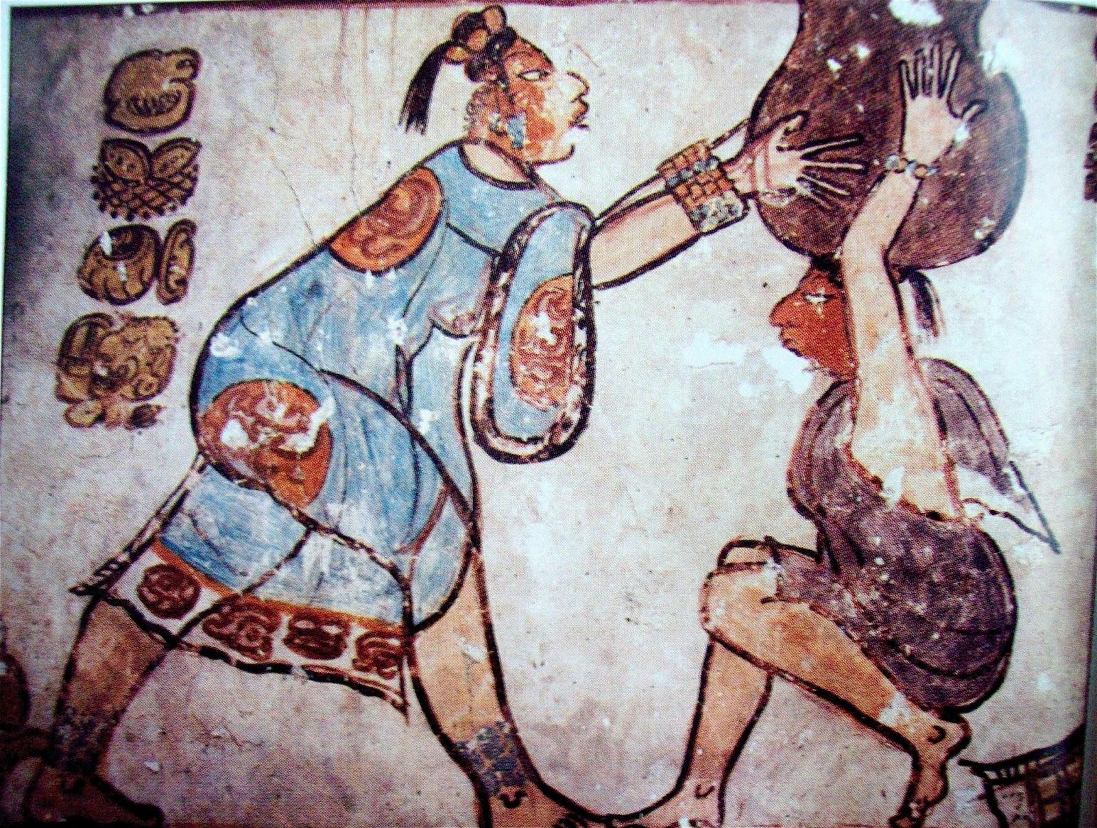 Literatura y mundo maya curso los murales mesoamericanos for El mural de bonampak