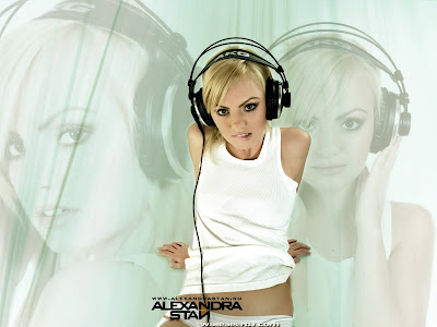 Alexandra Stan Headphones Women Wallpapers