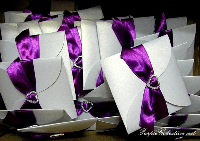 Pearl White + Dark Purple Petal Fold , Pearl, white, dark, purple, pearl white, dark purple, petal, petal fold, fold, diamond love, purple ribbon