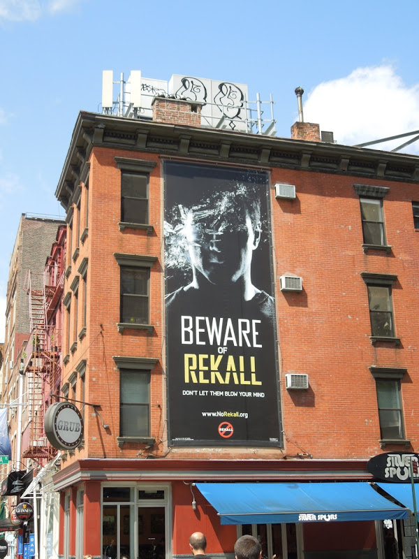 Total Recall movie teaser billboard NYC