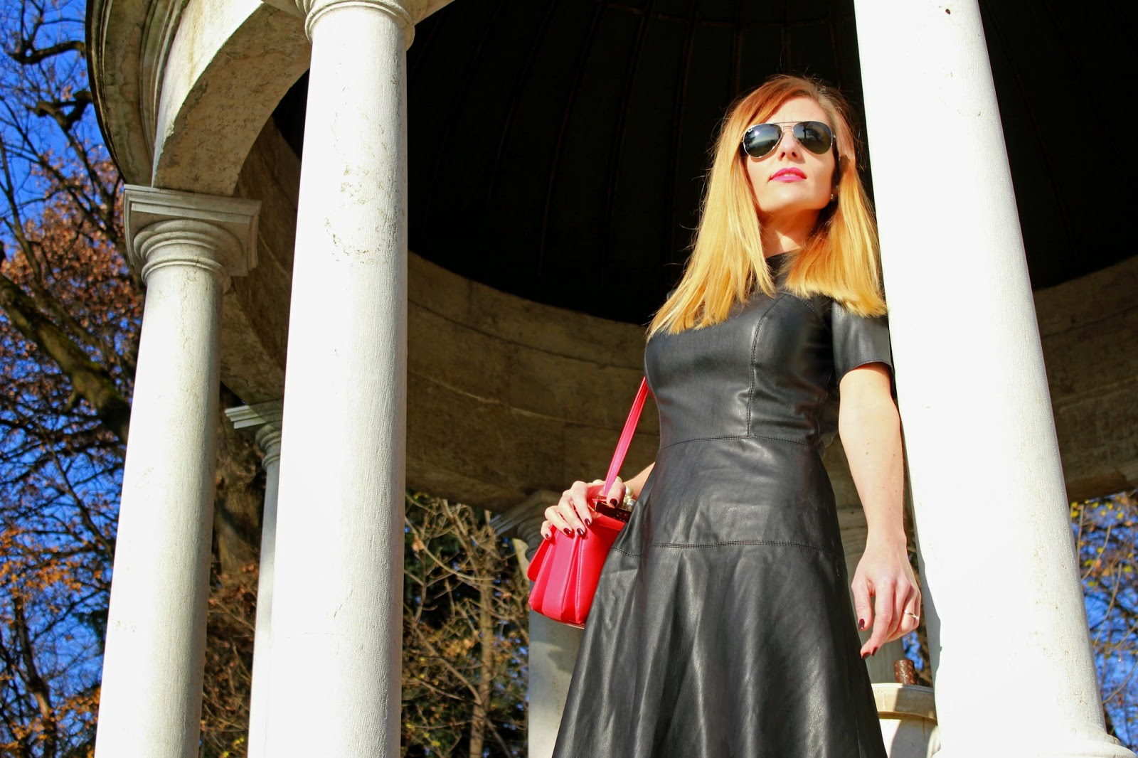 Eniwhere Fashion - Zara black leather dress