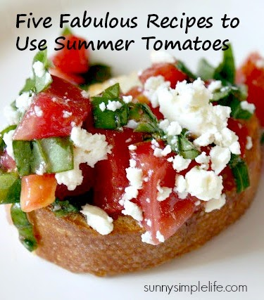 bruschetta, tomato recipes