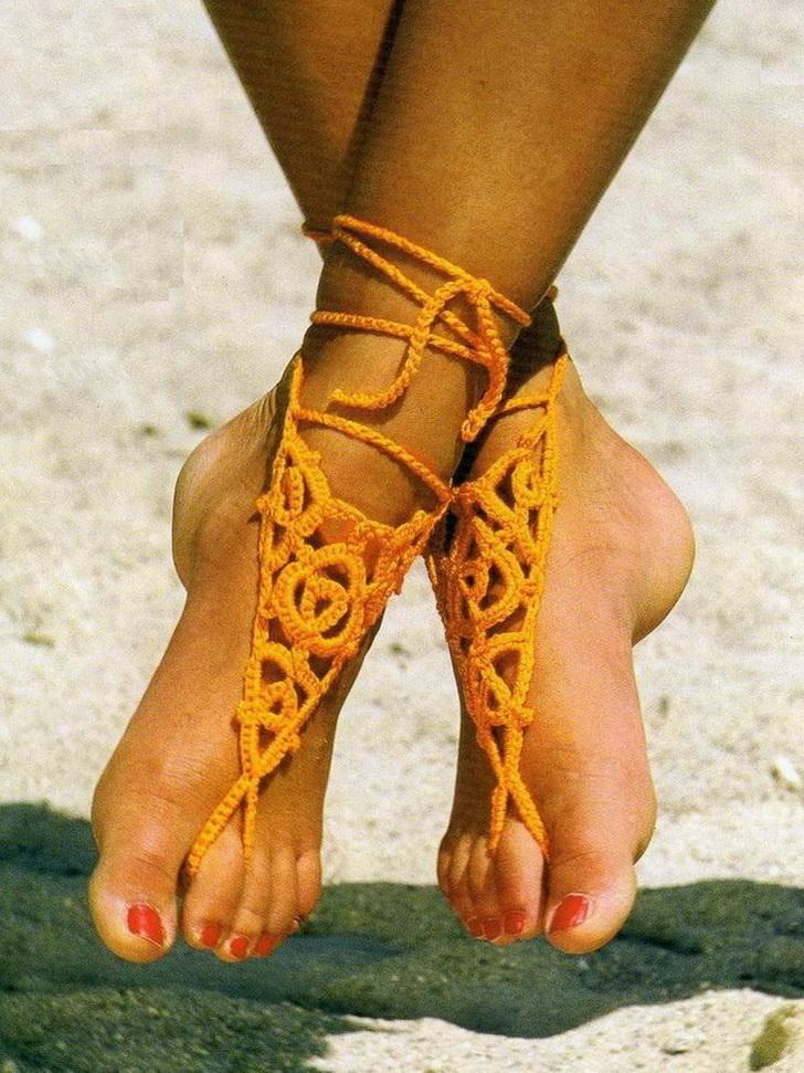 Stylish Easy Crochet: Crochet - Crochet Barefoot Sandals ...