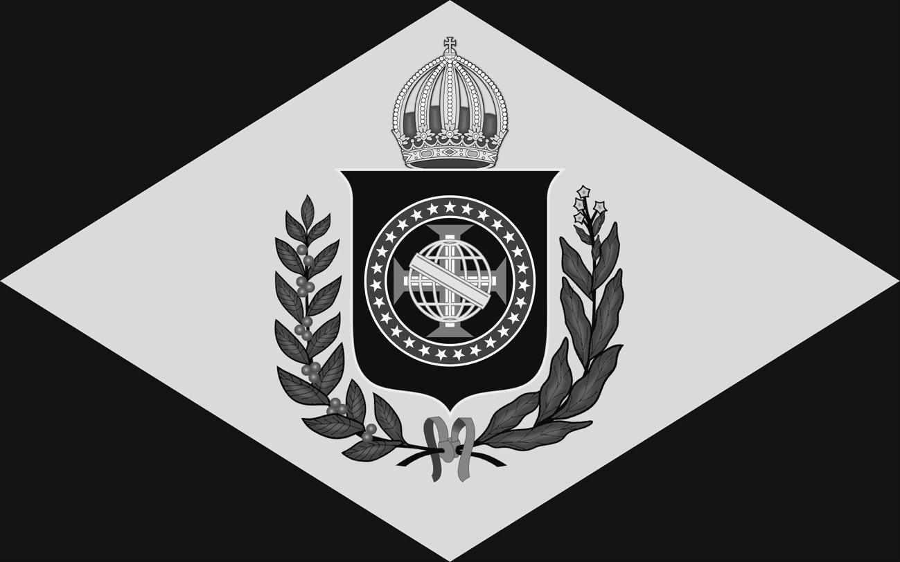 Bandeira do Brasil Imperial - Versão (10 X 16) Monocromática em B & W