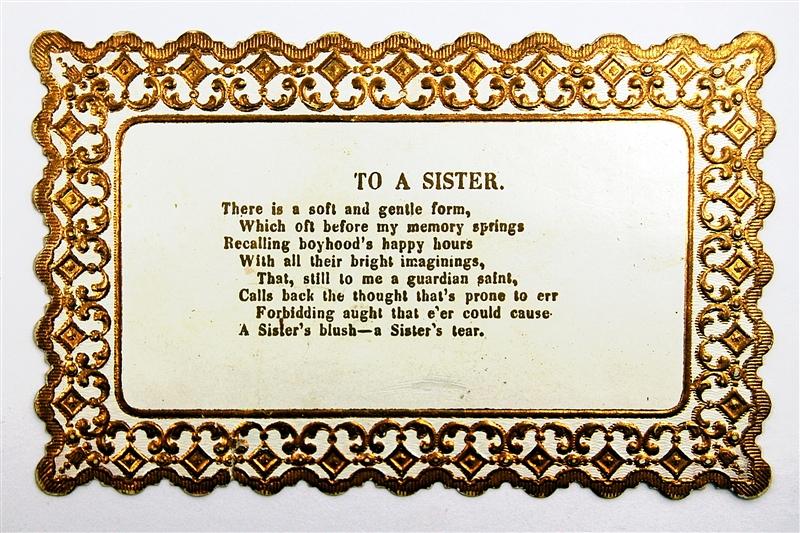 Short Sister Poems For